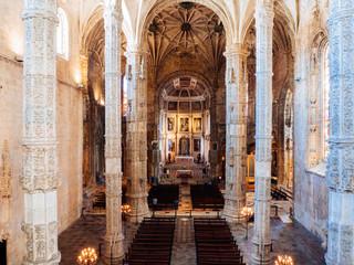 Interior of Church at Jeronimos Monastery