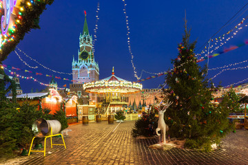 Christmas Market on the Red Square, Moscow, Russia