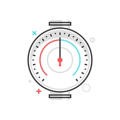 Color box icon, pressure meter illustration, icon