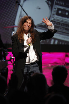 Rock icon Patti Smith performs at the 27th annual ASCAP Pop Music Awards in Hollywood