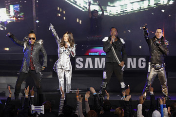 Black Eyed Peas perform in New York's Times Square