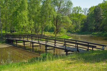 Fototapeta Drewniany mostek. obraz