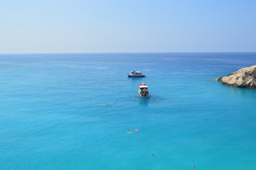 Blue, clear water - amazing Lefkada beaches