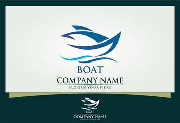 boat ocean sport logo
