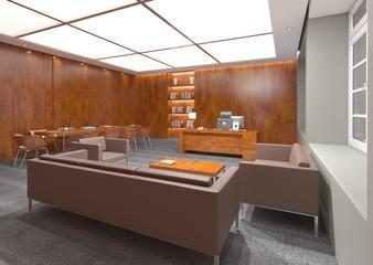 3d illustration modern office conference room