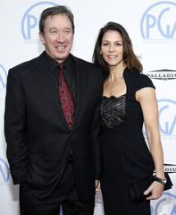 Actor and producer Allen and wife arrive at the 21st annual Producers Guild of America Awards in Los Angeles