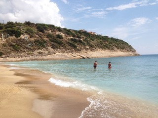 Sandy beach of Kefalonia