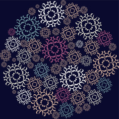 dark pattern with round elements.