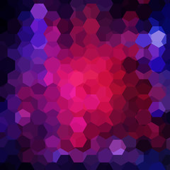 Background of dark blue, pink, purple geometric shapes. Mosaic pattern. Vector EPS 10. Vector illustration