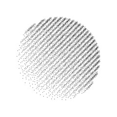 Stipple dots effect abstract background.