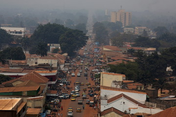 A general view shows a part of the capital Bangui, Central African Republic