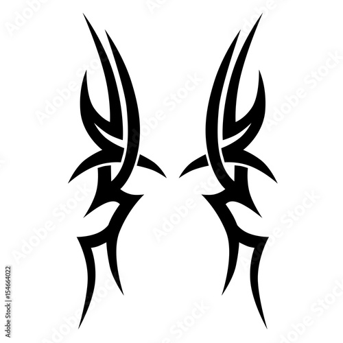 060e2291c0388 Tattoo/Tattoo tribal vector design. Simple tattoo tribal logo. Tattoo  tribal design for men, woman and girl. Abstract tribal tattoo pattern.