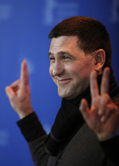Actor Puskepalis poses during photocall at Berlinale International Film Festival in Berlin