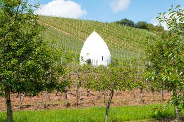 Trullo or italian roundhouse in Flonheim, Rhine-Hesse, Germany
