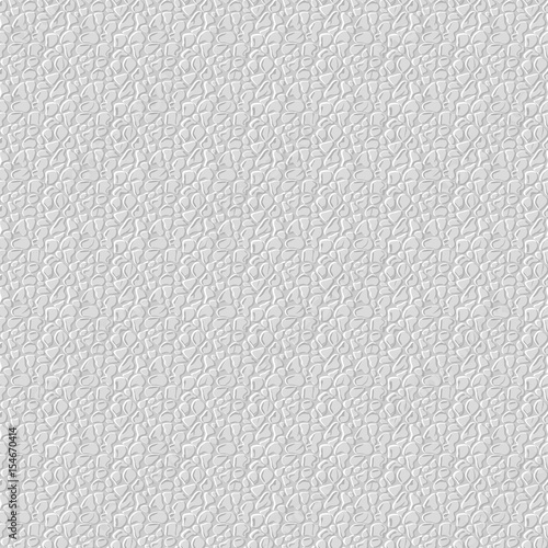 Realistic Seamless Leather Texture White Background Vector Illustration