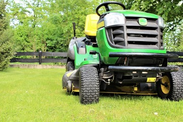 An image of lawn mowing