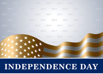 Independence day USA background with flag. Symbol of 4th july celebration the United State of America. Happy fourth july holiday, patriotic flag banner template. Vector illustrationg