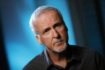 Director James Cameron is interviewed in Manhattan Beach