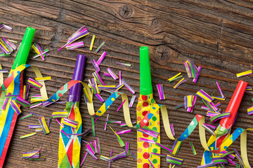 Colorful birthday or party background. Close up