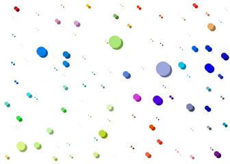 background with colored dots of different colors with blurry effect