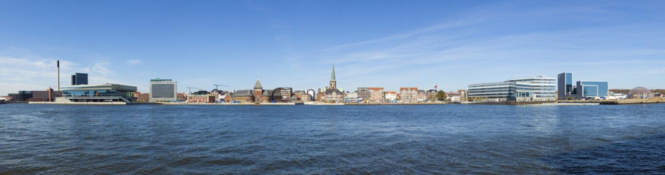 Aarhus waterfront panorama