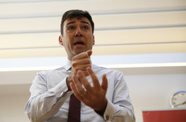 Labour Party leadership candidate Andy Burnham speaks to supporters in Edinburgh