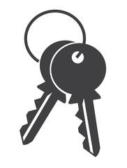 keys on white background