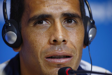 Costa Rica's national soccer team player Johnny Acosta attends a news conference in Salvador