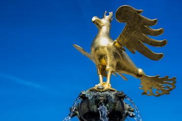 Goslar, Marktbrunnen mit Adler