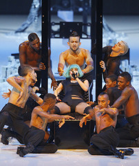 US singer Lady Gaga performs during the TV show 'Germany's next top model' in Cologne
