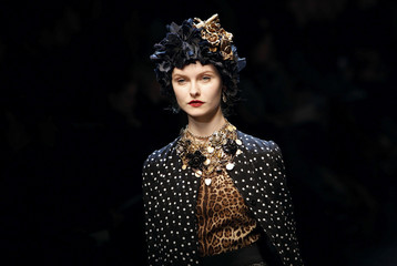 A model displays a creation as part of Dolce&Gabbana Fall/Winter 2010/11 women's collection during Milan Fashion Week