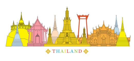 Thailand Architecture Landmarks Skyline