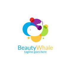 Beauty whale logo