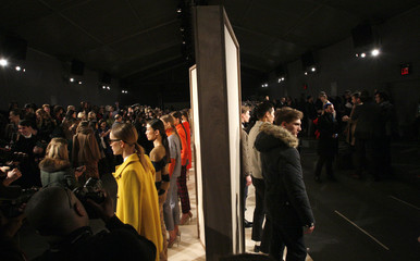 Models present creations from the J.Crew Fall/Winter 2012 collection during New York Fashion Week