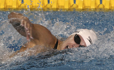 Kendall of the U.S. competes in the women's 100m freestyle preliminaries at the Pan American Games in Guadalajara