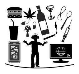 Teenage Addiction. Teenager are vulnerable to a number of modern-day addictions, alcohol, drugs, computer, smartphone, junk food, soft drinks