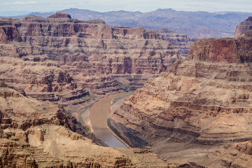 Grand Canyon West Rim and view of Colorado river