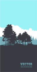 Vertical forest banner