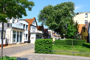 Ruhige Seitenstraße im Ostseebad Warnemünde