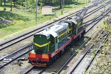 Czechoslovak shunting diesel locomotive with electric transmission