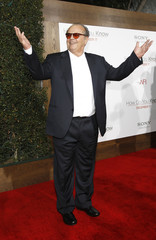 "Nicholson gestures at the premiere of ""How Do You Know"" at the Mann Village theatre in Los Angeles"