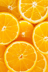 Juicy citrus slices as natural background