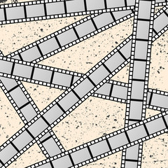 Background with movie films