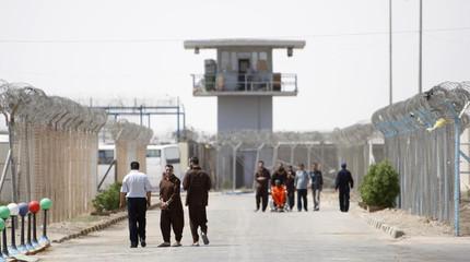 Inmates are seen at Nassiriya prison in the city of Nassiriya