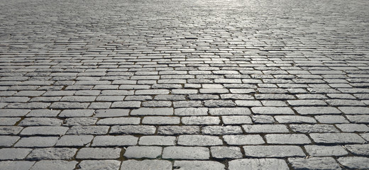 Old cobblestone pavement. Wall mural
