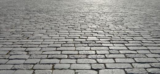 Old cobblestone pavement. Fototapete