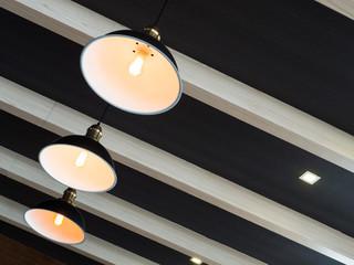 Modern three vintage ceiling lamp decor home or shop bright in orange light