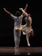 "Dancers of Spain's National Dance Company perform ""Arenal"", choreographed by Nacho Duato, during a general rehearsal in Madrid"