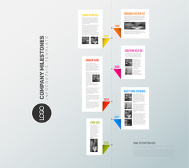 Vector vertical infographic timeline report template
