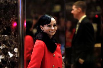 American Tea Party activist Katrina Pierson enters Trump Tower in Manhattan, New York City, U.S.